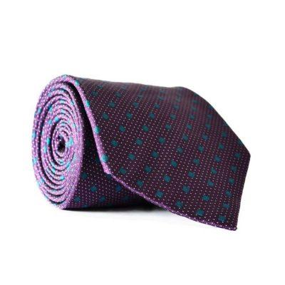 Галстук мужской фиолетовый Emilio Corali