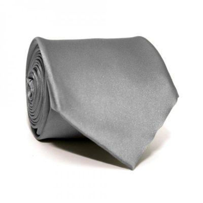 Галстук серый однотонный Emilio Corali