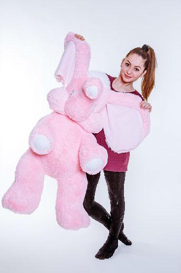 Большая игрушка «Слон» (120 см розовый)
