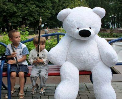 Большой плюшевый медведь «Бублик» (200 см)
