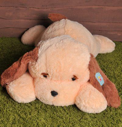 Мягкая игрушка - собачка «Тузик» (100 см персиковый)