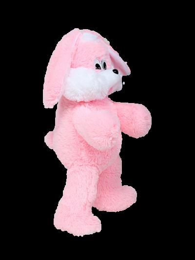 Мягкая игрушка - зайка «Снежок» (65 см, розовый)