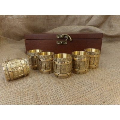 Набор бронзовых чарок «Бочка»
