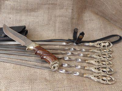 Набор шампуров «Лев» с ножом