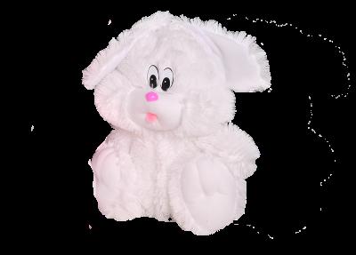 Плюшевый зайчик сидячий (35 см белый)