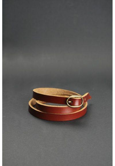 Браслет-лента с пряжкой BlankNote (коньяк)