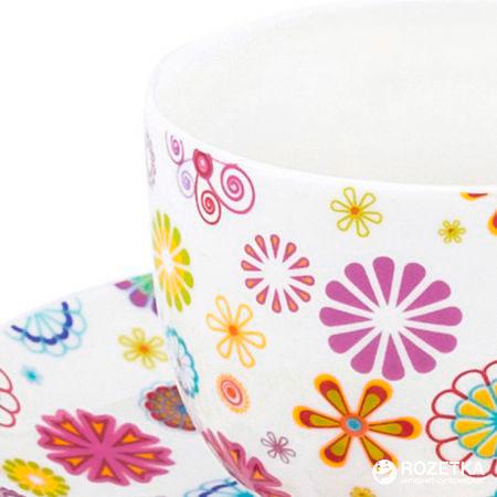 Чашка Krauff с блюдцем Blumen