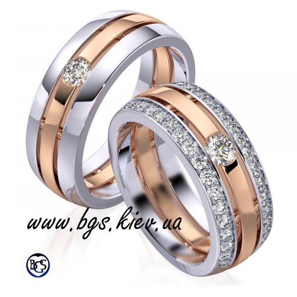 Дизайнерские обручальные кольца на заказ из двух цветов золота