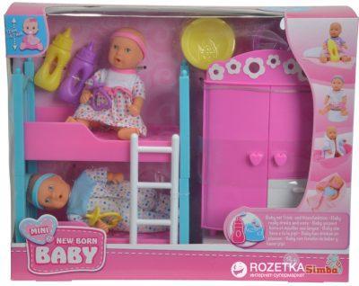 Кукольный набор Simba NBB «2 мини-пупса и спальня»