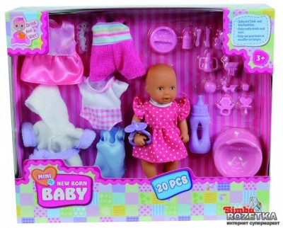 Кукольный набор мини-пупс «Переодевание» New Born Baby Simba
