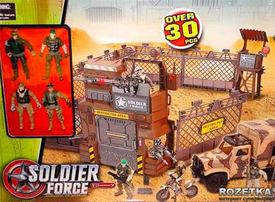 Набор солдатиков: военная база в пустыне с техникой и солдатами Chap Mei
