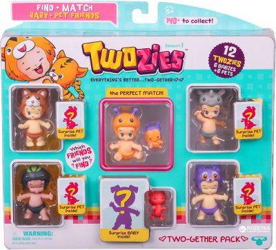 Набор фигурок Twozies S1 - 12 забавных малышей
