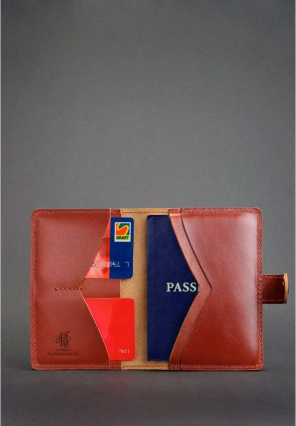 Обложка для паспорта «3.0 Коньяк» BlankNote (кожа)
