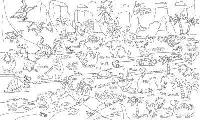Обои-раскраски Pasportu «Динозавры» 60х100 см