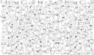 Обои-раскраски «Веселые коты» 60х100 см