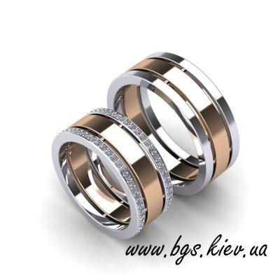 Обручальные кольца из комбинированного золота «Идеальная пара»