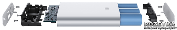 Портативное зарядное устройство Xiaomi Mi Power Bank 10000 mAh