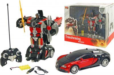 Робот-трансформер на р/у Bugatti Black-Red