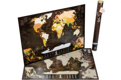 Скретч-карта мира MyMap «Chocolate Edition»