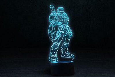 Светильник-ночник 3D «Железный человек 3» 3DTOYSLAMP