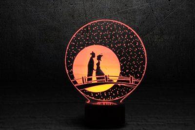 Светильник-ночник 3D «Мост влюбленных» 3DTOYSLAMP