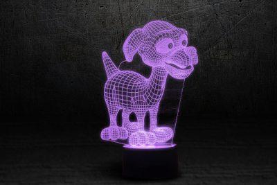Светильник-ночник 3D «Дружок» 3DTOYSLAMP