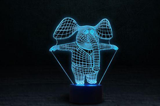 Светильник-ночник 3D «Слоник» 3DTOYSLAMP