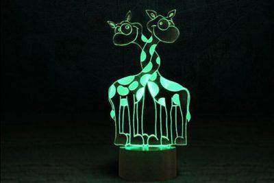 Светильник-ночник 3D «Влюбленные жирафики» 3DTOYSLAMP