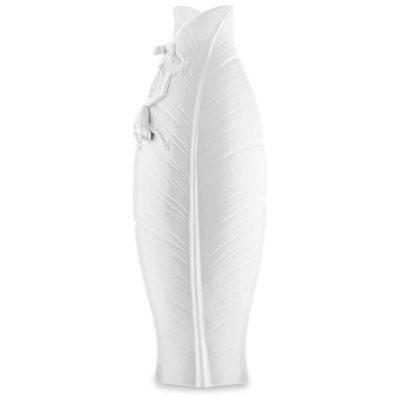 Белая фарфоровая ваза Pavone FM «Тропические лягушки»