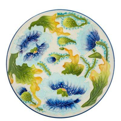 Блюдо Pavone «Голубые маки»