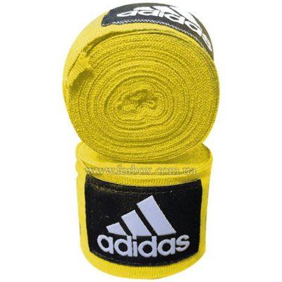 Боксерские бинты Adidas эластичные (желтые)