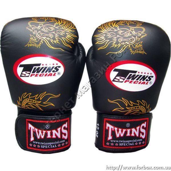 Боксерские перчатки Twins Dragon кожаные
