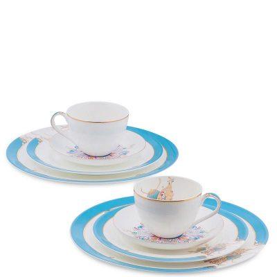 Чайный набор Pavone из фарфора на две персоны «Песня Мотылька»