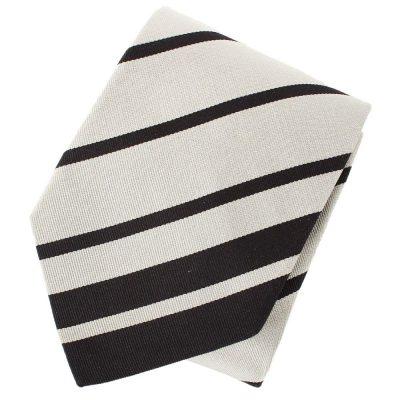 Черный галстук DKNY с полосками светло-серого цвета