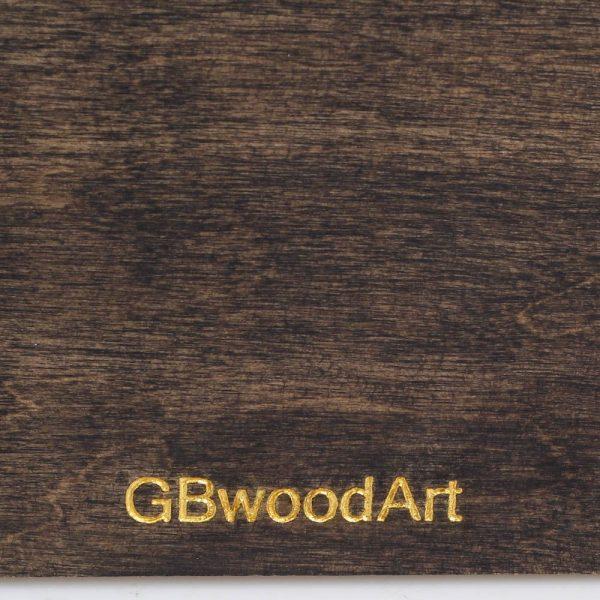 Блокнот из натурального дерева GBwoodArt с рисунком femida