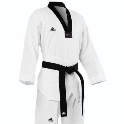 Добок тхэквондо Adidas Adi Club Uniform с черным воротом