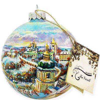 Елочный шар FaVareli «Мой Киев» с ручной росписью favareli-a19