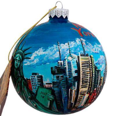 Елочный шар FaVareli «Нью-Йорк»
