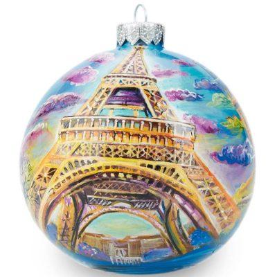 Елочный шар FaVareli «Париж» с ручной росписью
