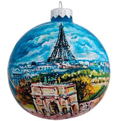 Елочный шар FaVareli «Парижские пейзажи»