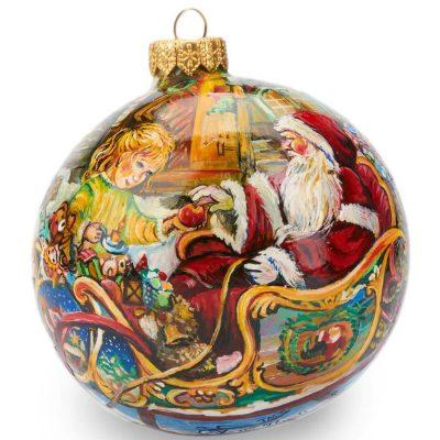 Елочный шар FaVareli «Подарки» с ручной росписью