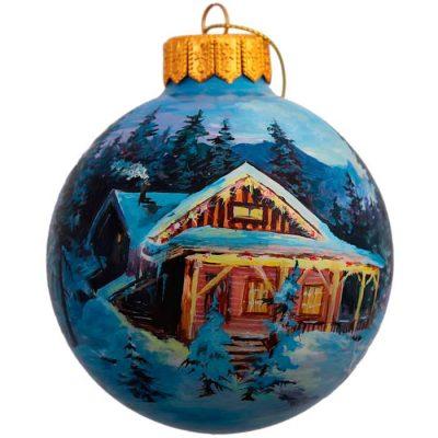 Елочный шар FaVareli «Рождественский пейзаж»