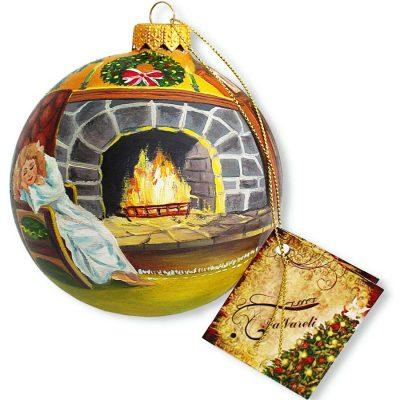 Елочный шар FaVareli «Загадочный Санта»