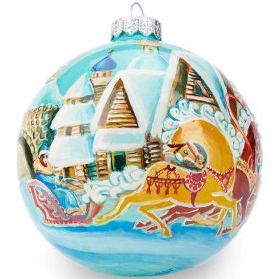 Елочный шар FaVareli «Зима в деревне»
