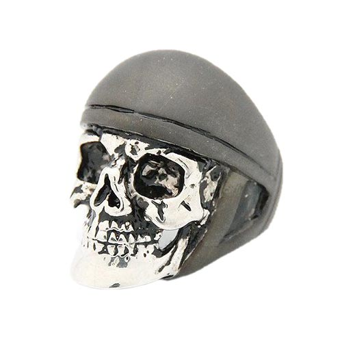 Кольцо Good After Nine Ride or Die в форме серебристого черепа