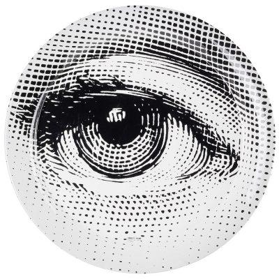 Круглый поднос Fornasetti «Глаз»