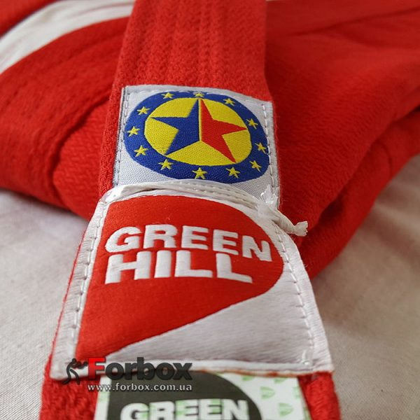 Куртка для самбо Green Hill «Junior» (красная)