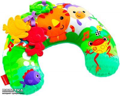Музыкальная массажная подушка Fisher-Price «Тропические зверята»