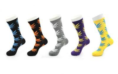 Набор из 5 пар носков с разноцветным листом конопли HUF