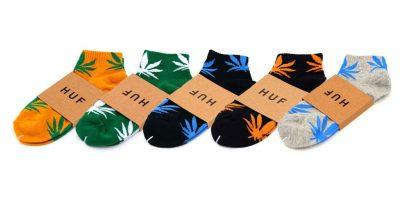 Набор коротких носков унисекс с листом конопли HUF